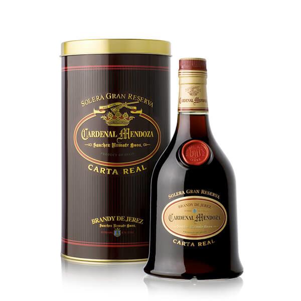 Brandy de xérès Cardenal Mendoza Carta Real Solera Gran Reserva