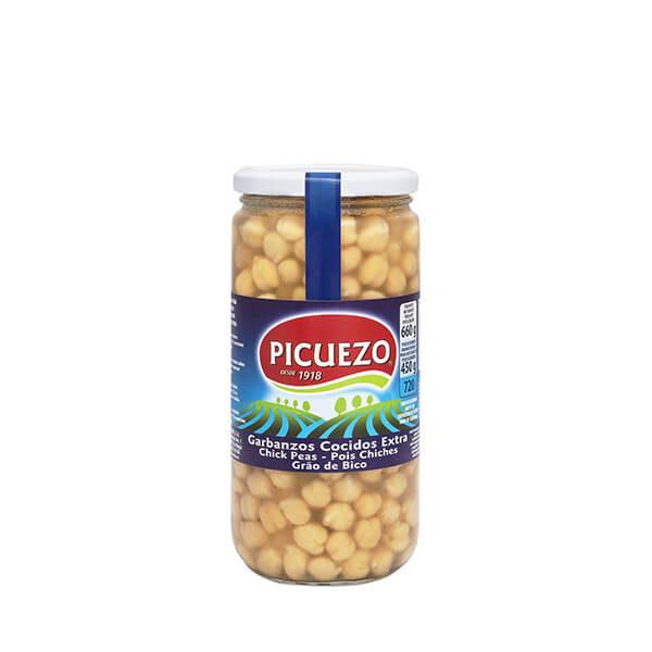 """Bocal de pois chiches au naturel """"El Picuezo"""" 540 g"""