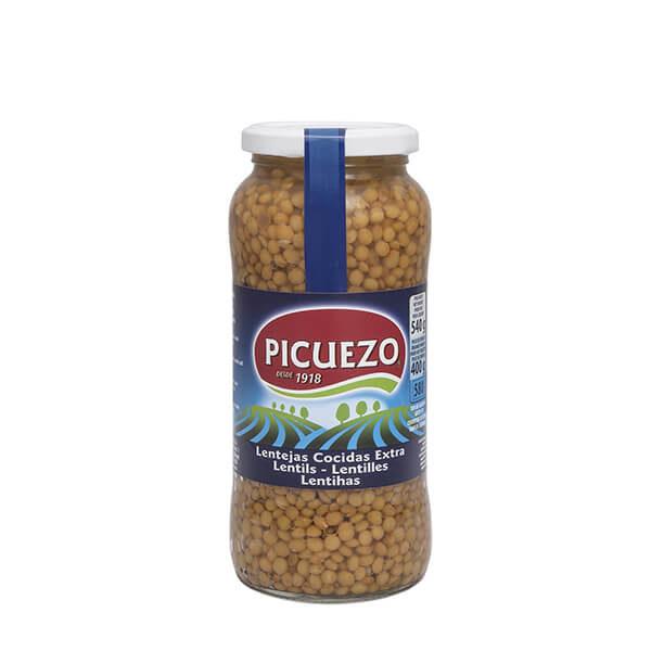 """Bocal de lentilles au naturel """"El Picuezo"""" 540 g"""