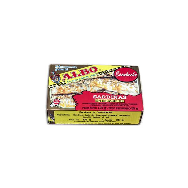 "Sardines à l'escabèche ""Albo"" 120g"