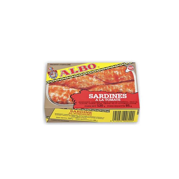 """Sardines à la tomate """"Albo"""" 120g"""