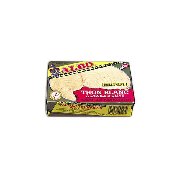 """Thon blanc - Bonito del Norte - à l'huile d'olive """"Albo"""" 112g"""