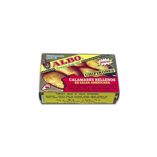 """Calamars entiers à la sauce américaine """"Albo"""" 115g"""